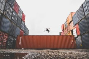 jumping-above-container
