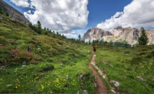 man-walk-through-mountain-path