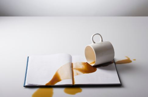 spilled-coffee-on-book